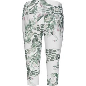 super.natural Super Printed Pantalones 3/4 Mujer, blanco/verde